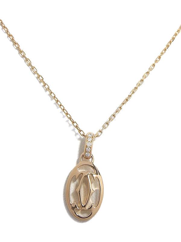 【Cartier】カルティエ『ロゴ ドゥーブル C ダイヤ ネックレス』1週間保証【中古】