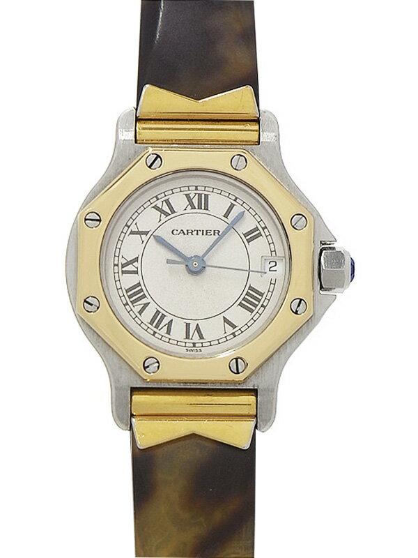 【Cartier】【電池交換済】カルティエ『サントス オクタゴン』レディース クォーツ 1ヶ月保証【中古】