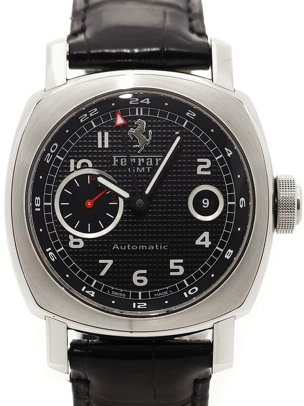 【PANERAI】【FERRARI】パネライ『フェラーリ グランツーリズモ GMT』FER00003 メンズ 自動巻き 3ヶ月保証【中古】