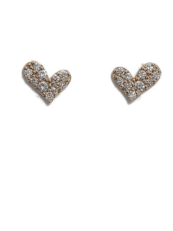 セレクトジュエリー『K18PGピアス ダイヤモンド0.15ct 0.15ct パヴェハートモチーフ』1週間保証【中古】