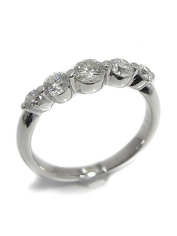 【仕上済】【ピンキーリング】セレクトジュエリー『K18WGリング ダイヤモンド0.50ct』5号 1週間保証【中古】