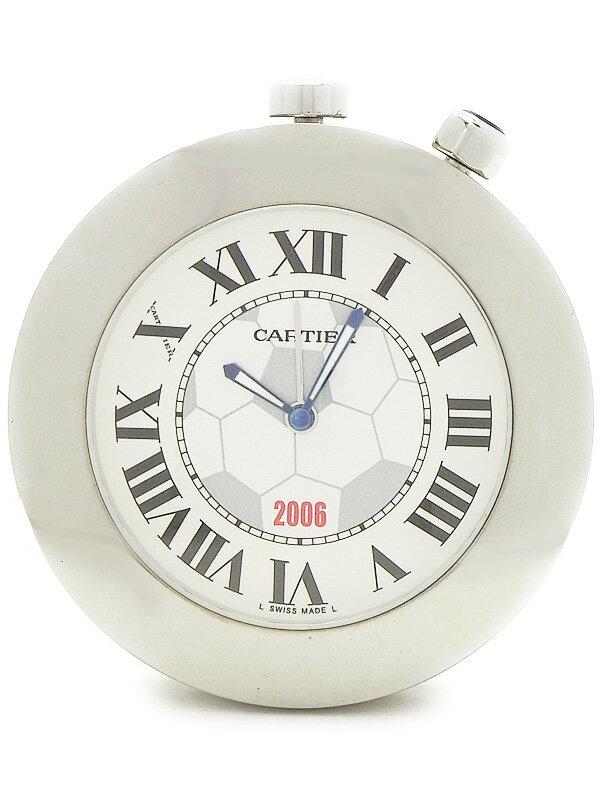 【CARTIER】【置時計】【電池交換済】カルティエ『トラベルクロック 2006FIFAワールドカップ』クォーツ 1週間保証【中古】