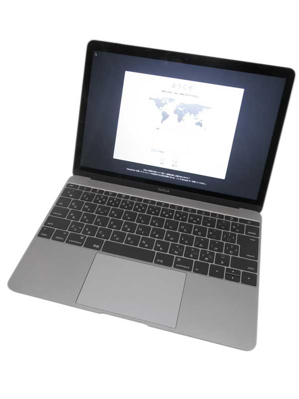 【Apple】アップル『MacBook 1200/12』MJY42J/A スペースグレイ Early 2015 SSD512GB ElCapitan ノートPC【中古】