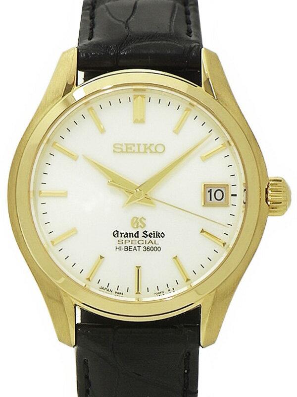 【SEIKO】【GS】【裏スケ】【'16年メーカーコンプリートサービス済】セイコー『グランドセイコー』SBGH020 メンズ 自動巻き 6ヶ月保証【中古】