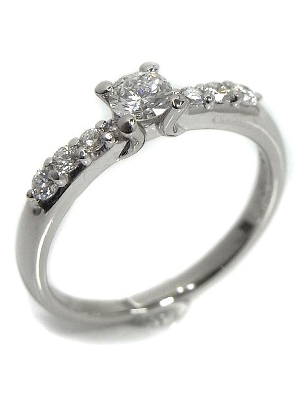 【Dior】クリスチャンディオール『PT950リング ダイヤモンド』10号 1週間保証【中古】