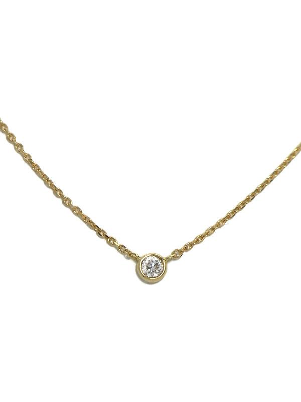 【TASAKI】タサキ『K18YGネックレス ダイヤモンド0.06ct』1週間保証【中古】