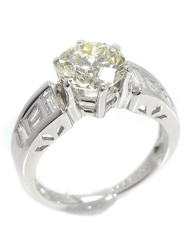 【ソーティング】セレクトジュエリー『PT900リング ダイヤモンド2.021ct/LIGHT YELLOW/SI-1/VERY GOOD』12号 1週間保証【中古】