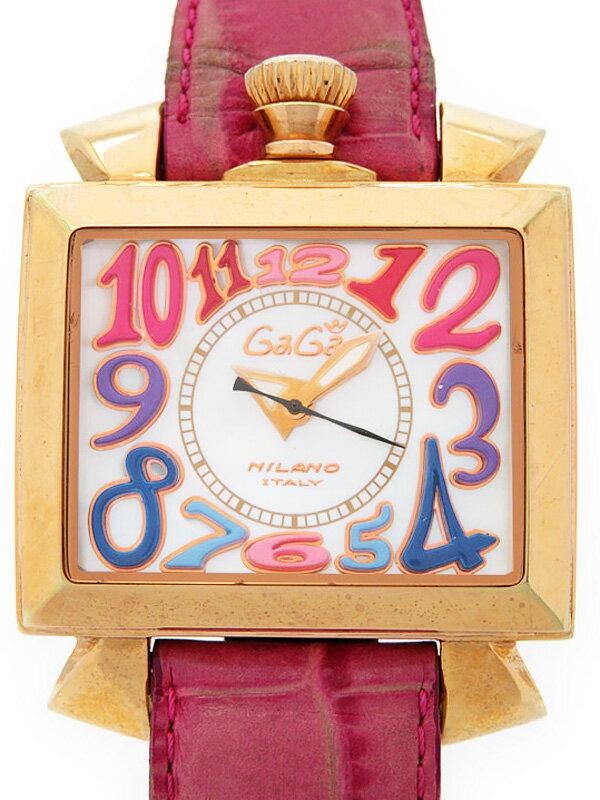 【GaGa MILANO】【裏スケ】ガガミラノ『ナポレオーネ』6001.1 メンズ 自動巻き 1ヶ月保証【中古】