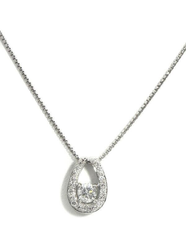 【ソーティング】【仕上済】セレクトジュエリー『PT950ネックレス ダイヤモンド0.312ct/F/SI-2/GOOD 0.10ct』1週間保証【中古】