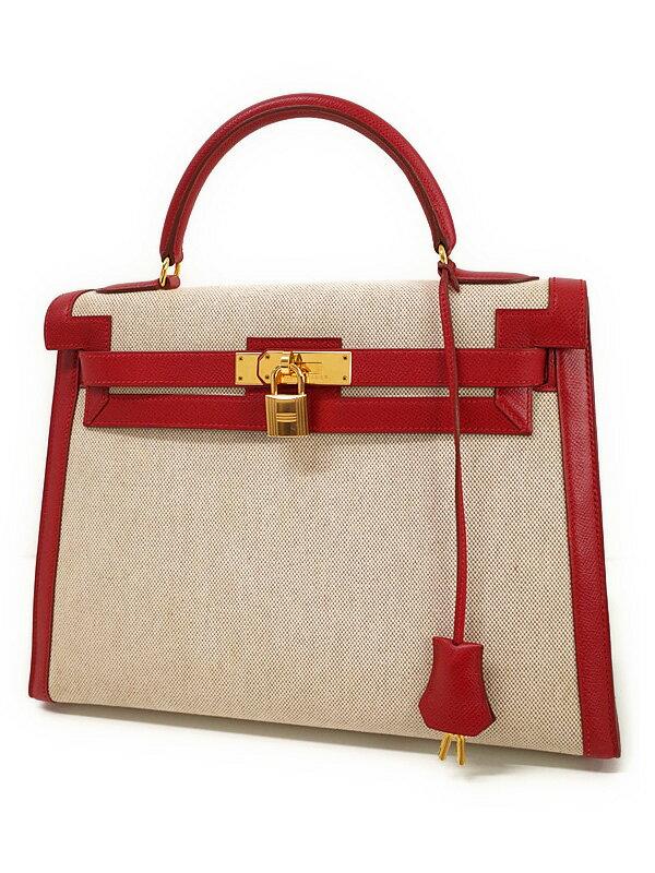 【HERMES】【ゴールド金具】エルメス『ケリー32 外縫い』Y刻印 1995年製 レディース ハンドバッグ 1週間保証【中古】