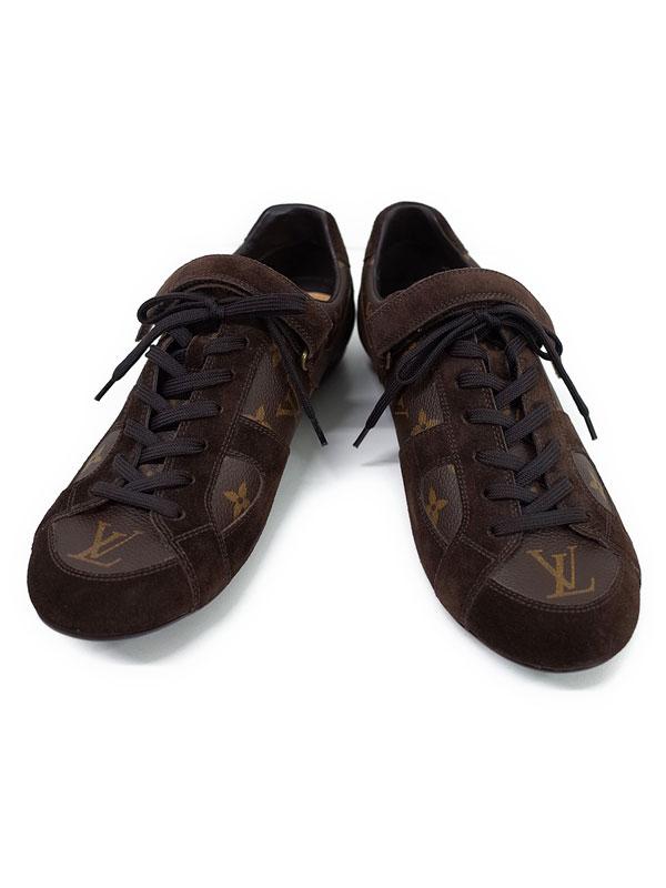 【Louis Vuitton】ルイヴィトン『モノグラム ベルクロ スニーカー size 7 1/2』メンズ 1週間保証【中古】
