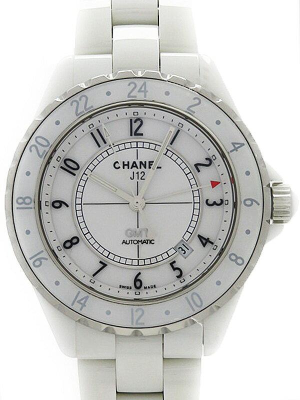 【CHANEL】【美品】シャネル『J12 ホワイトセラミック  GMT42mm』H2126 メンズ 自動巻き 6ヶ月保証【中古】
