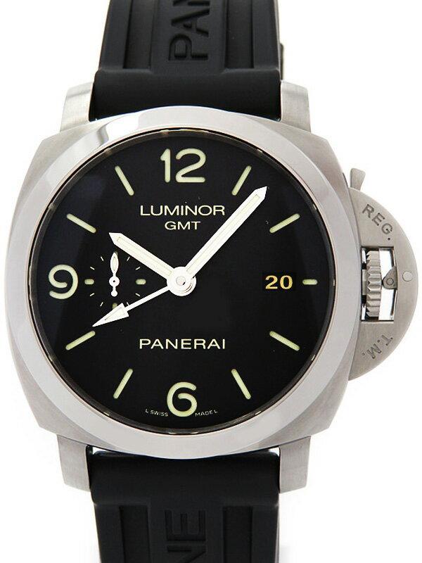 【PANERAI】【裏スケ】パネライ『ルミノール1950 3デイズ GMT』PAM00320 P品番'13年製 メンズ 自動巻き 6ヶ月保証【中古】