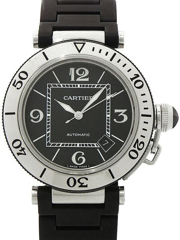 【CARTIER】【OH済】カルティエ『パシャ シータイマー オートマティック』W31077U2 メンズ 自動巻き 3ヶ月保証【中古】