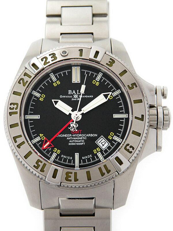 【BALL】ボール『エンジニア ハイドロカーボン GMT』DG1016A-SJ-BK メンズ 自動巻き 1ヶ月保証【中古】