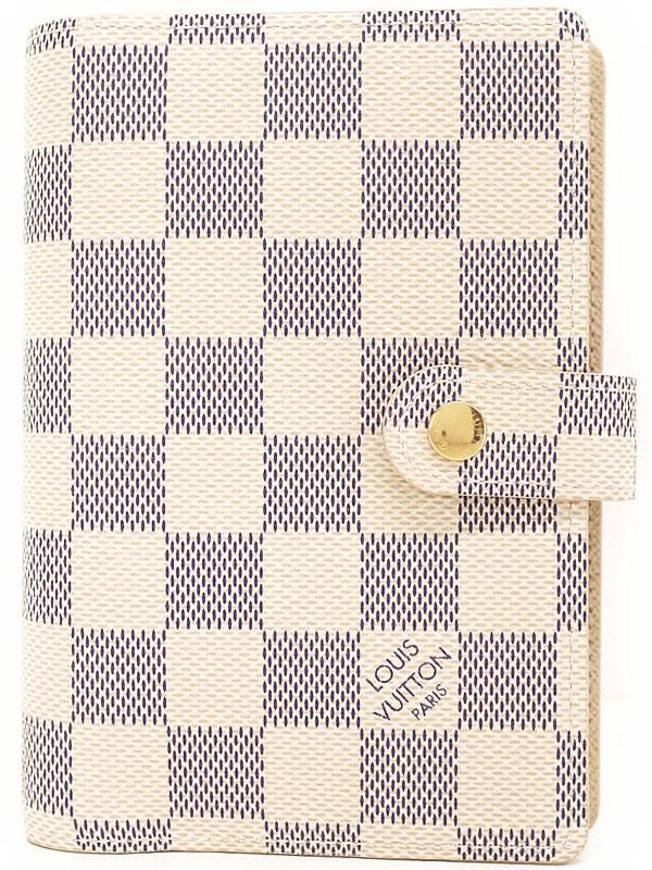 【LOUIS VUITTON】ルイヴィトン『ダミエ アズール アジェンダPM』R20706 ユニセックス 手帳カバー 1週間保証【中古】