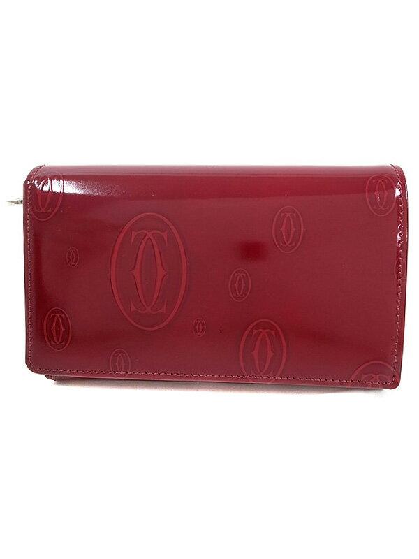 【Cartier】カルティエ『ハッピーバースデイ 二つ折り短財布』L3000347 レディース 1週間保証【中古】