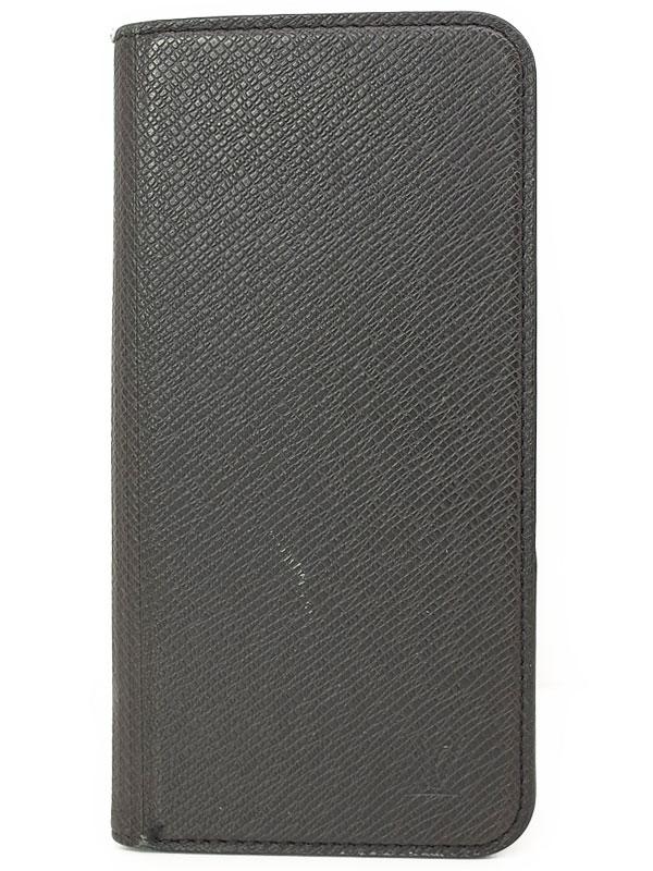 【LOUIS VUITTON】【携帯カバー】ルイヴィトン『タイガ IPHONE7+ フォリオ』M63406 メンズ アイフォンケース 1週間保証【中古】