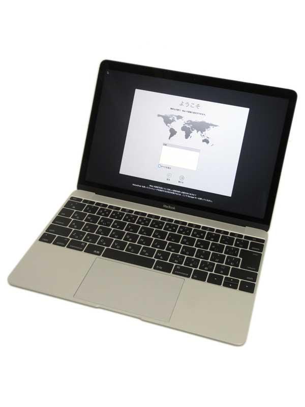 【Apple】アップル『MacBook 1100/12 シルバー』FF855J/A(MF855J/Aメーカー製備品) Early 2015 SSD256GB ElCapitan ノートPC【中古】