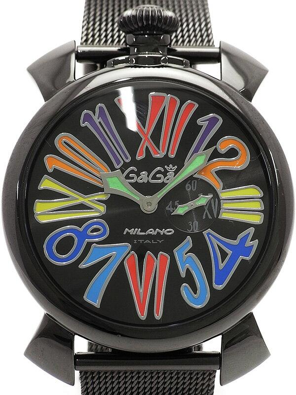 【GaGa MILANO】ガガミラノ『マヌアーレ スリム 46mm』5082.1 メンズ クォーツ 1週間保証【中古】