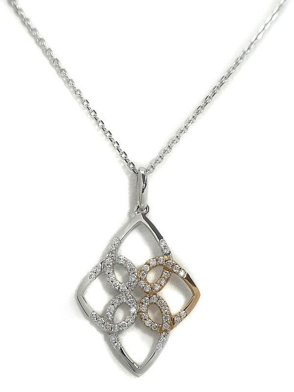 セレクトジュエリー『K18WG/K18PGネックレス ダイヤモンド0.35ct』1週間保証【中古】
