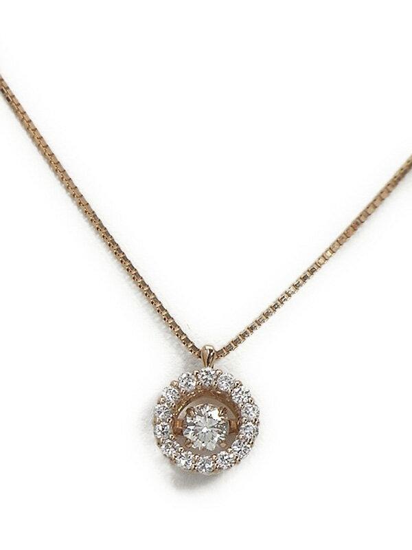 セレクトジュエリー『K18PGネックレス ダイヤモンド0.211ct 0.20ct』1週間保証【中古】