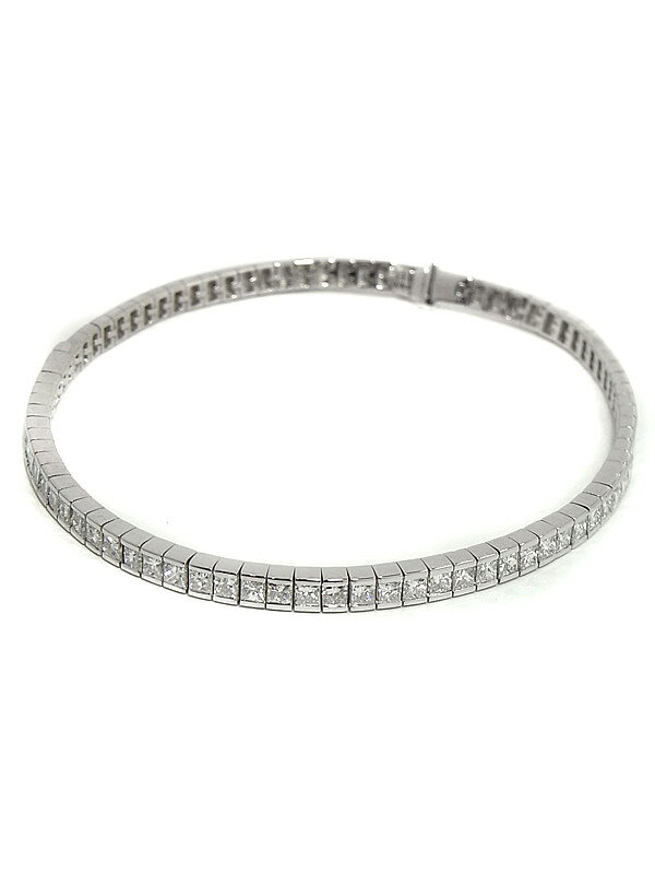【仕上済】セレクトジュエリー『K18WGブレスレット ダイヤモンド2.28ct』1週間保証【中古】