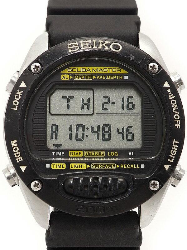 【SEIKO】セイコー『スキューバマスター ダイビングコンピューター』M705-5A00 メンズ クォーツ 1週間保証【中古】