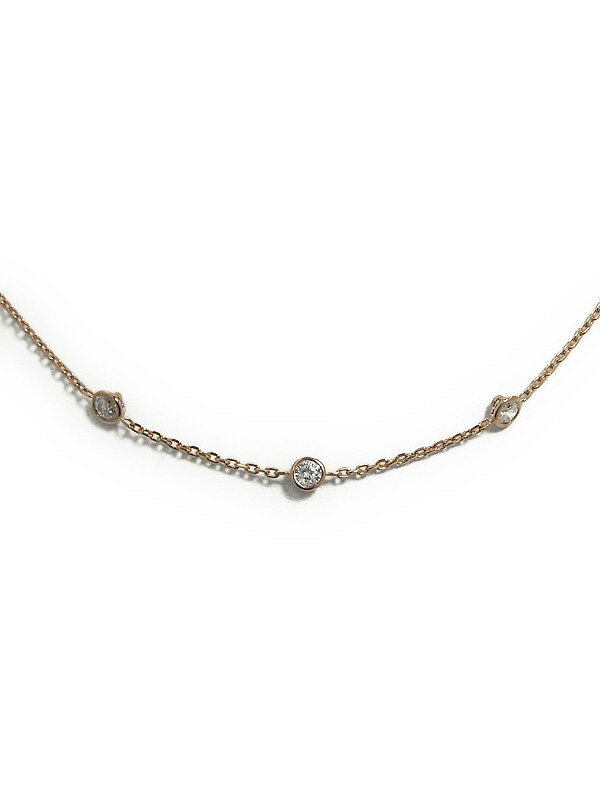 【仕上済】セレクトジュエリー『K18PGネックレス ダイヤモンド0.75ct』1週間保証【中古】