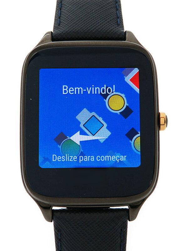 【ASUS】【美品】【スマートウォッチ】エイスース『Zen Watch2 ガンメタル ダークブルー』WI501Q-BL04 ボーイズ 腕型端末 1週間保証【中古】