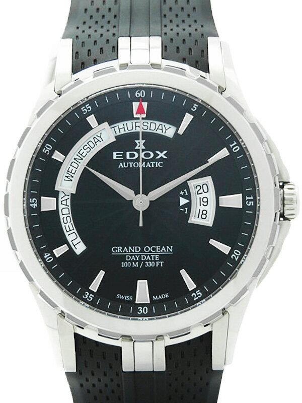 【EDOX】【裏スケ】エドックス『グランドオーシャン デイデイト』83006-3-NIN メンズ 自動巻き 3ヶ月保証【中古】
