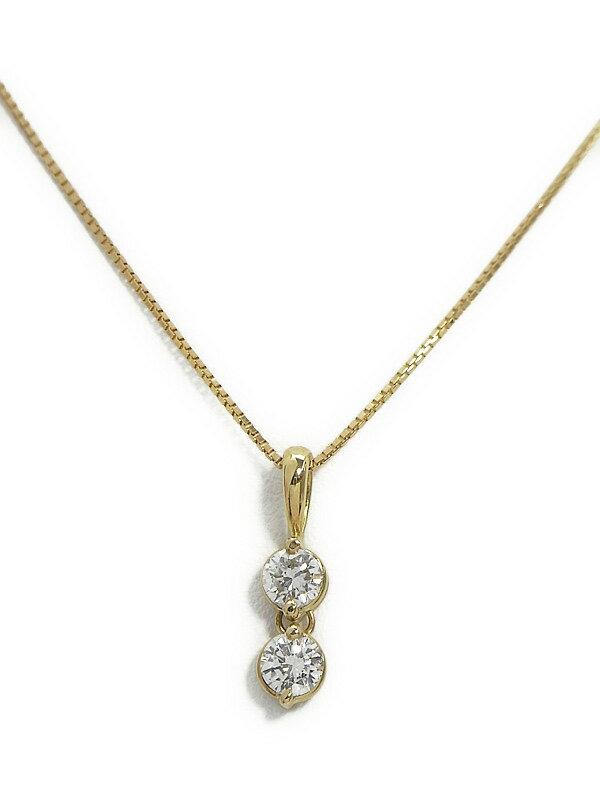 セレクトジュエリー『K18YGネックレス ダイヤモンド0.507ct』1週間保証【中古】