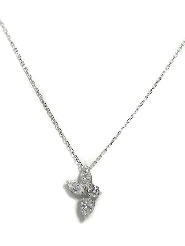 セレクトジュエリー『K18WGネックレス ダイヤモンド0.660ct』1週間保証【中古】