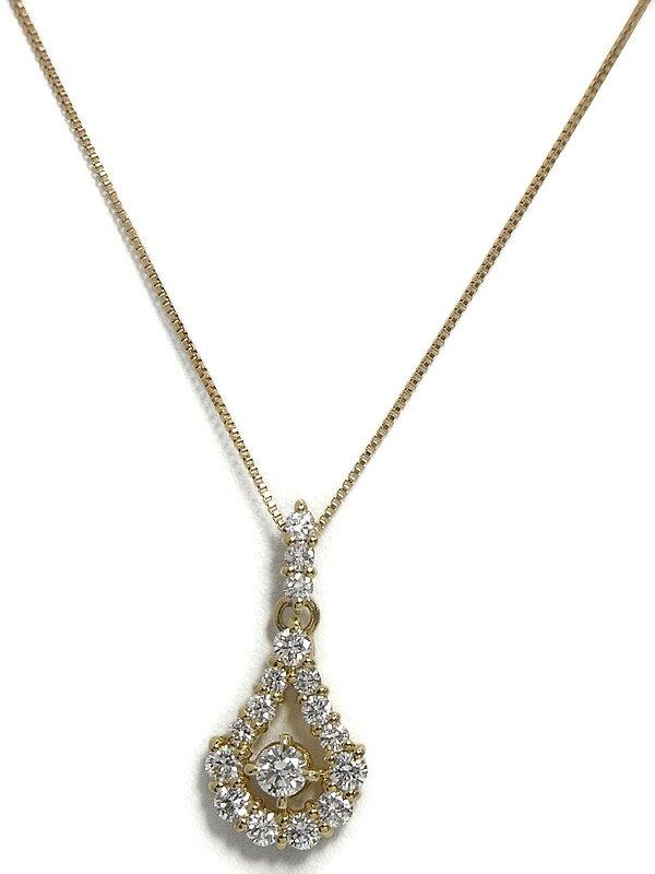 セレクトジュエリー『K18YGネックレス ダイヤモンド0.55ct』1週間保証【中古】