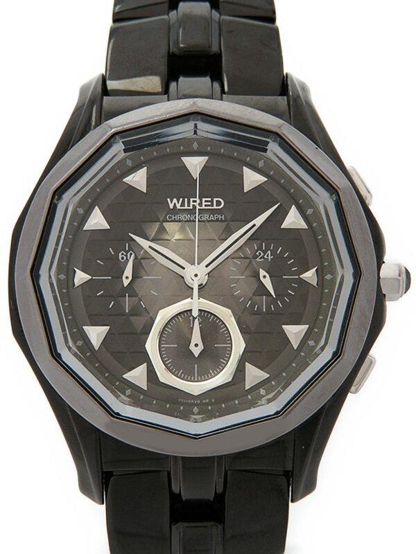 【SEIKO】【WIRED】【電池交換済】セイコー『ワイアード デルタ クロノグラフ』AGBV813 メンズ クォーツ 1週間保証【中古】