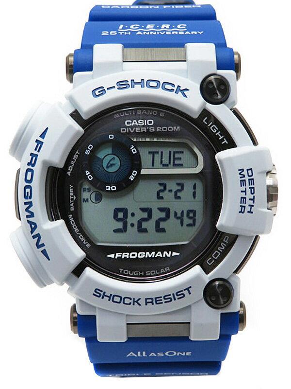 【CASIO】【G-SHOCK】【美品】カシオ『Gショック フロッグマン LOVE THE SEA AND THE EARTH』GWF-D1000K-7JR メンズ ソーラー電波クォーツ 3ヶ月保証【中古】