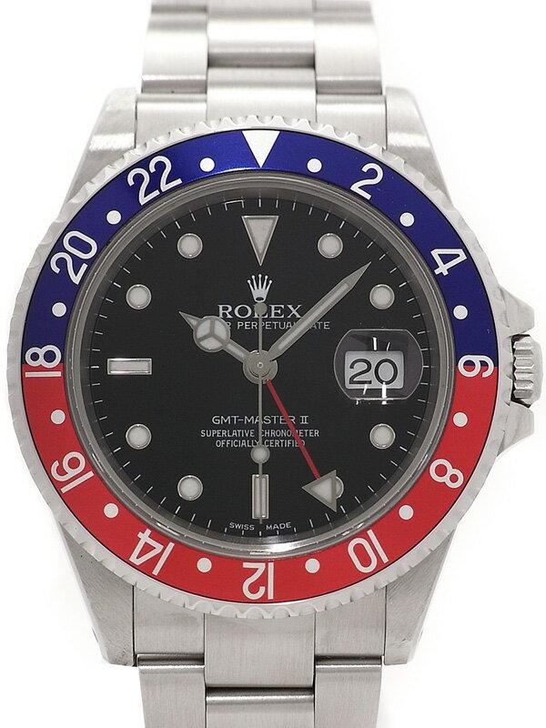 【ROLEX】【OH済】ロレックス『GMTマスター2 赤×青ベゼル』16710 K番'01年頃製 メンズ 自動巻き 12ヶ月保証【中古】