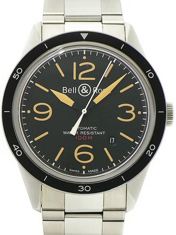 【Bell&Ross】【裏スケ】ベル&ロス『ヴィンテージ スポーツ ヘリテージ』BR123 メンズ 自動巻き 3ヶ月保証【中古】