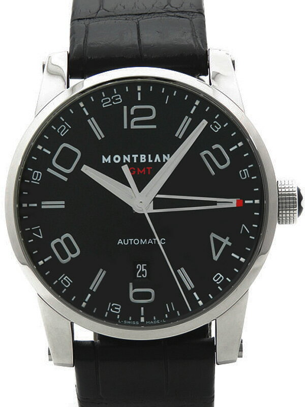 【MONTBLANC】【裏スケ】モンブラン『タイムウォーカー GMT』M29430 メンズ 自動巻き 3ヶ月保証【中古】