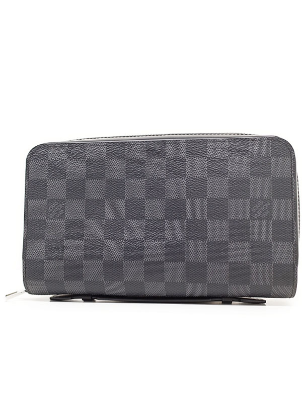 【LOUIS VUITTON】ルイヴィトン『ダミエ グラフィット ジッピー XL』N41503 メンズ ラウンドファスナー長財布 1週間保証【中古】