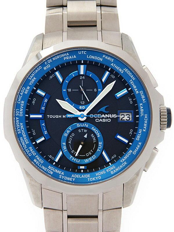 【CASIO】【OCEANUS】カシオ『オシアナス マンタ』OCW-S2000-1AJF メンズ ソーラー電波クォーツ 1ヶ月保証【中古】