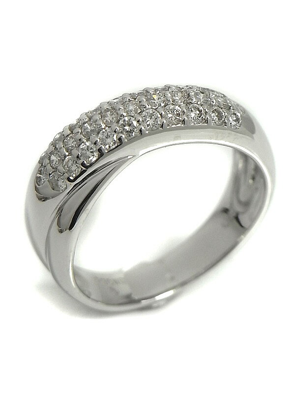 【Ponte Vecchio】【仕上済】ポンテヴェキオ『K18WGリング ダイヤモンド0.50ct』11号 1週間保証【中古】