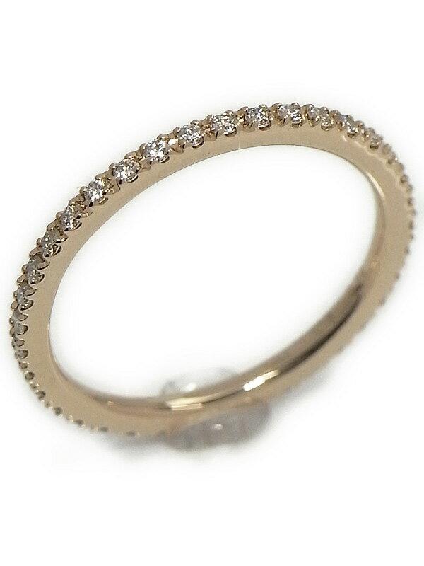 【StarJewelry】【仕上済】スタージュエリー『K18PGリング ダイヤモンド0.24ct フルエタニティ』7号 1週間保証【中古】