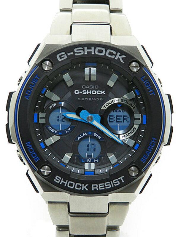 【CASIO】【G-SHOCK】カシオ『Gショック Gスチール』GST-W100D-1A2JF メンズ ソーラー電波クォーツ 1週間保証【中古】