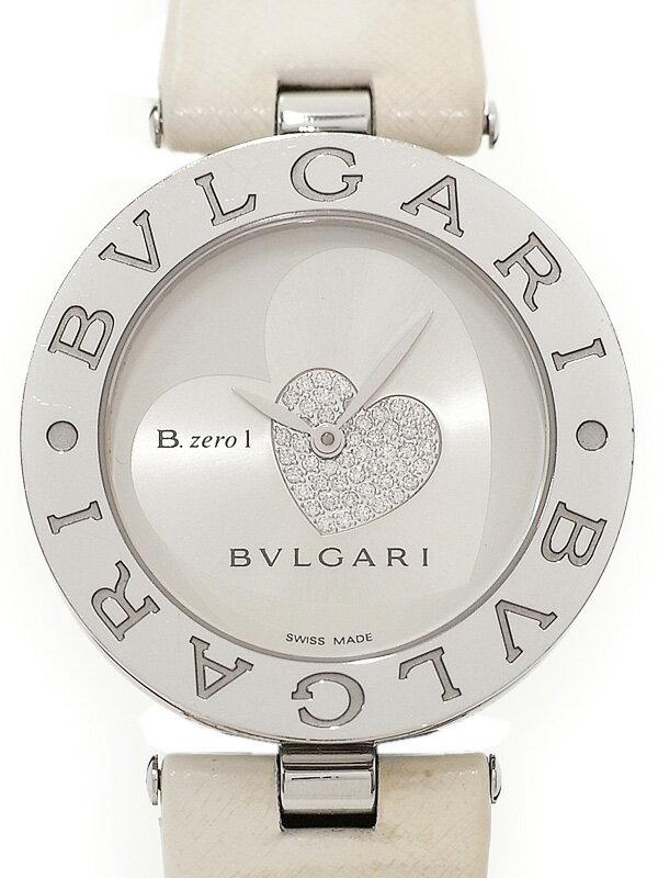【BVLGARI】【電池交換済】ブルガリ『B-zero1 ビーゼロワン ダブルハート』BZ35S レディース クォーツ 3ヶ月保証【中古】