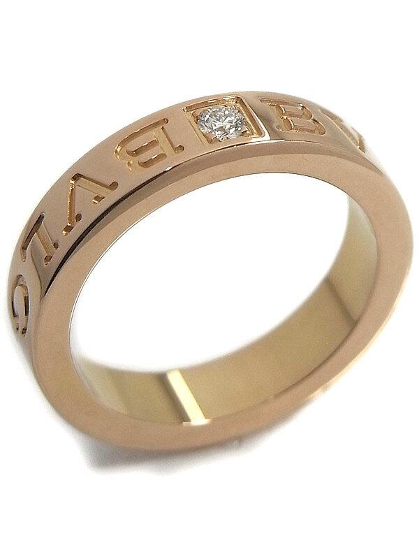 【BVLGARI】ブルガリ『ブルガリブルガリ ダブルロゴリング 1Pダイヤモンド』8.5号 1週間保証【中古】