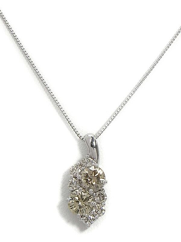セレクトジュエリー『K18WGネックレス ダイヤモンド0.90ct』1週間保証【中古】