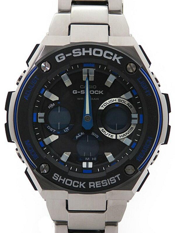 【CASIO】【G-SHOCK】【海外モデル】【美品】カシオ『Gショック Gスチール』GST-S100D-1A2DR メンズ ソーラークォーツ 1週間保証【中古】