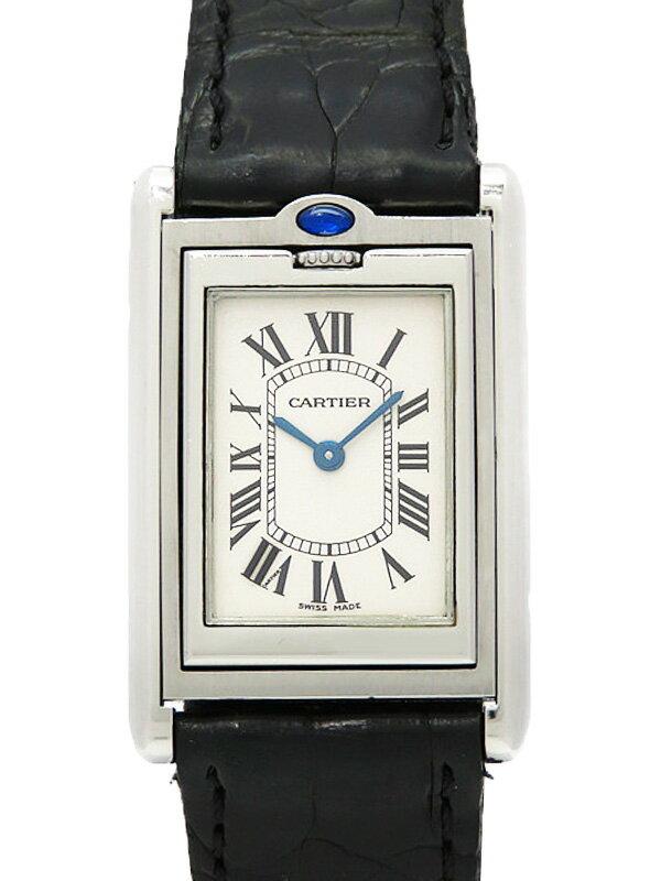 【Cartier】【電池交換済】カルティエ『タンクバスキュラント MM』W1011258 ボーイズ クォーツ 3ヶ月保証【中古】