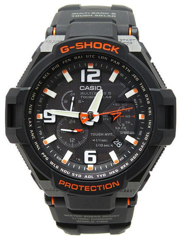 【CASIO】【G-SHOCK】【美品】【'17年購入】カシオ『Gショック スカイコックピット』GW-4000-1AJF メンズ ソーラー電波クォーツ 1週間保証【中古】